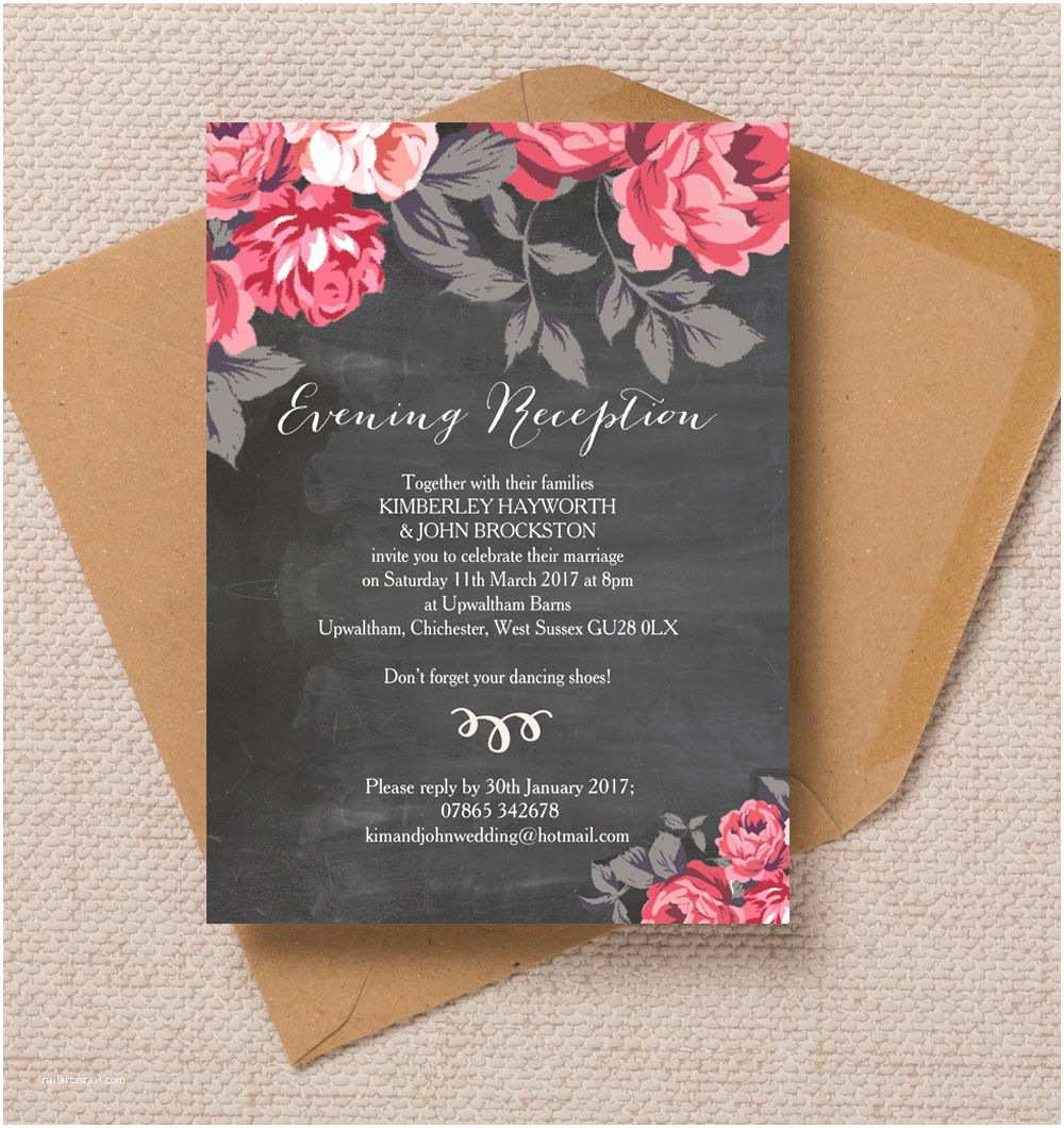 Wedding Reception Invitations top 10 Printable evening Wedding Reception Invitations