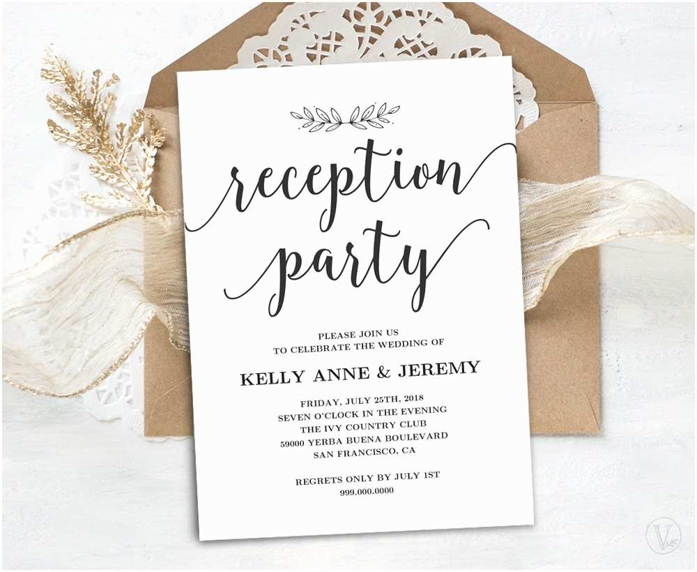 Wedding Reception Invitations Wedding Reception Invitation Printable Reception Party Card