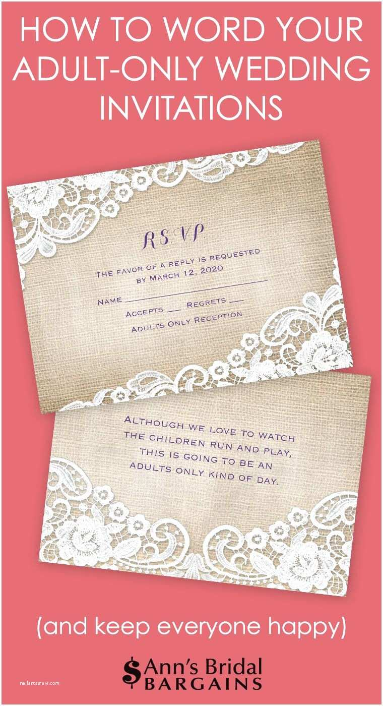 Wedding Reception Only Invitation Wording Etiquette States that the Best Way to Municate An Adult