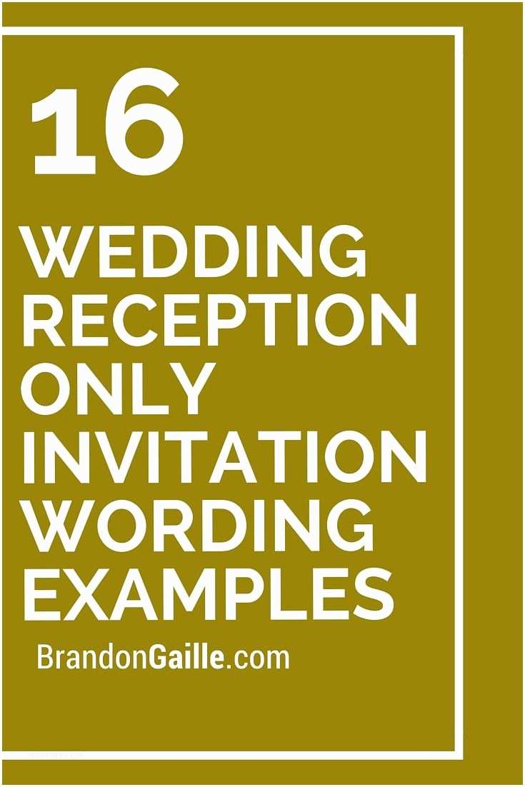 Wedding Reception Only Invitations 16 Wedding Reception Ly Invitation Wording Examples
