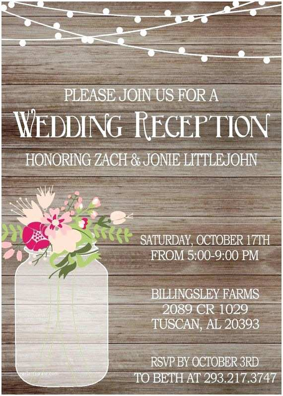 Wedding Reception Only Invitations Best 25 Mason Jar Invitations Ideas On Pinterest