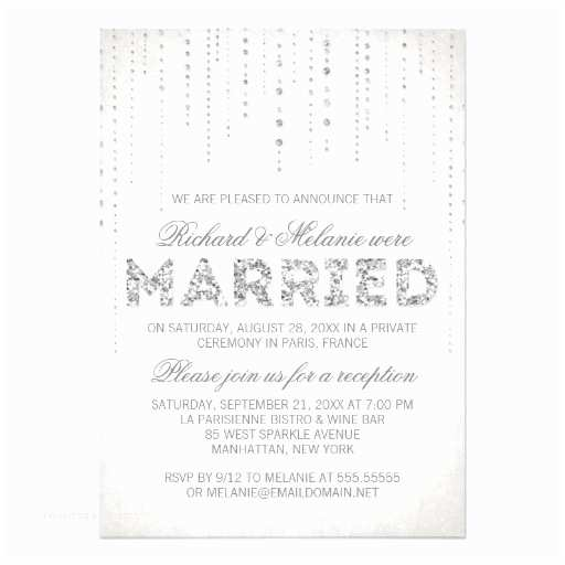 Wedding Reception Only Invitations Glitter Look Wedding Reception Ly Invitation