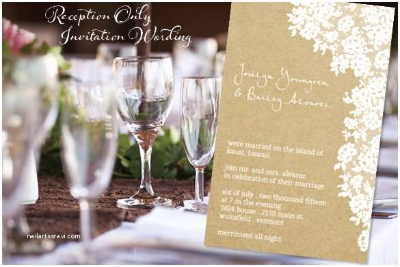 Wedding Reception Only Invitations Reception Ly Invitation Wordingreception Ly Invitation