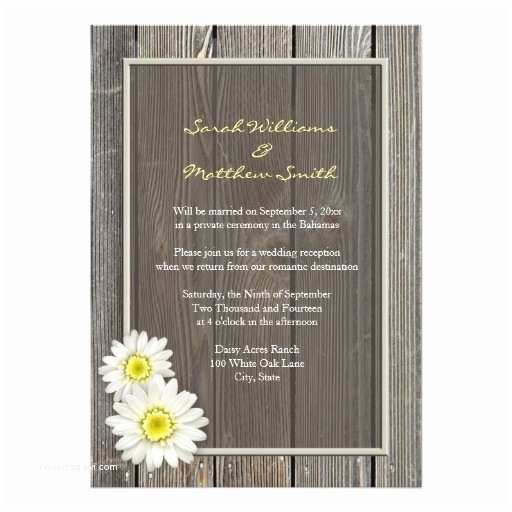 Wedding Reception Only Invitations Reception Ly Rustic Daisy Wedding Invitations