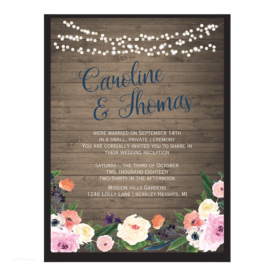 Wedding Reception Only Invitations Watercolor Floral Bohemian Wedding Reception Ly Invite