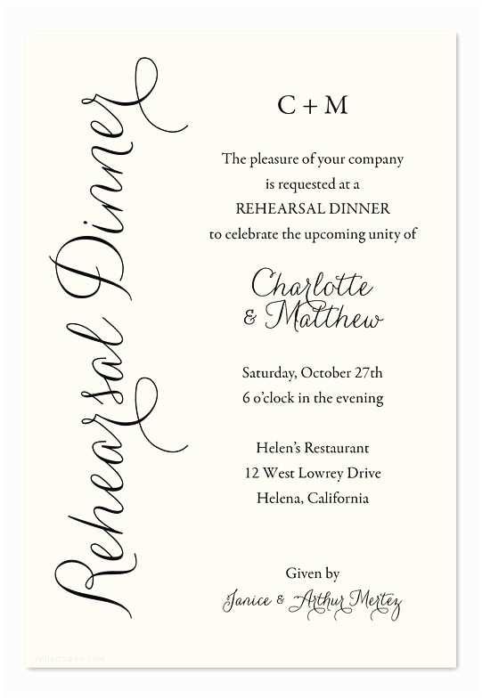 Wedding Rehearsal Dinner Invitation Wording 25 Best Ideas About Dinner Invitation Wording On