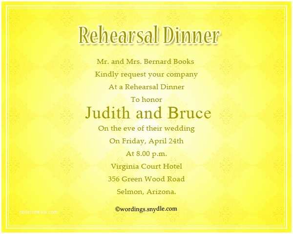 Wedding Rehearsal Dinner Invitation Wording Wedding Dinner Invitation Wording Samples Matik for
