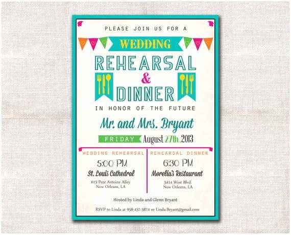 Wedding Rehearsal Dinner Invitations Fiesta Wedding Rehearsal Dinner Invitation Custom Printable