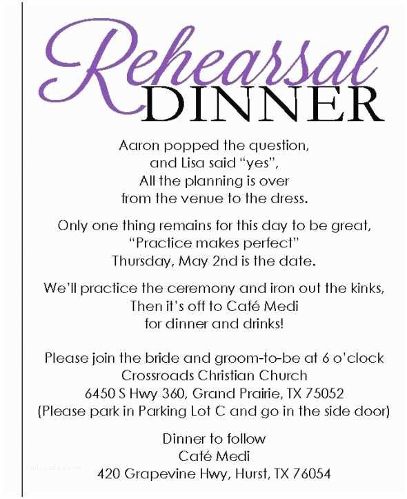 Wedding Rehearsal Dinner Invitations Rehearsal Dinner Invite with Template Available