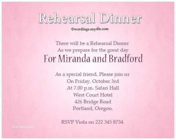 Wedding Rehearsal Dinner Invitations Wedding Rehearsal Dinner Invitation Wording Samples
