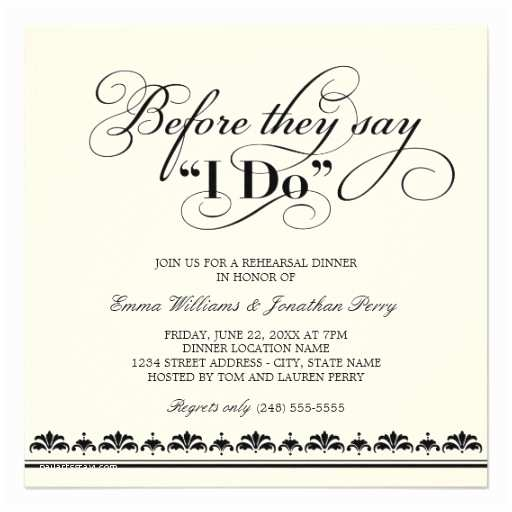 Wedding Rehearsal Dinner Invitations White Wedding Invitations Wedding Rehearsal Dinner