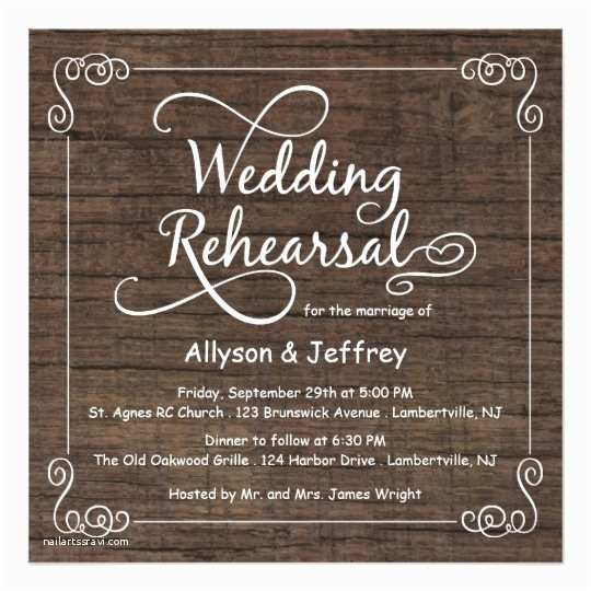 Wedding Rehearsal Invitation Ideas Rustic Wood Wedding Rehearsal Dinner Invitations