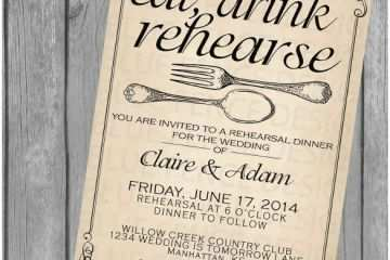 Wedding Rehearsal Invitations 40 Dinner Invitation Templates Free