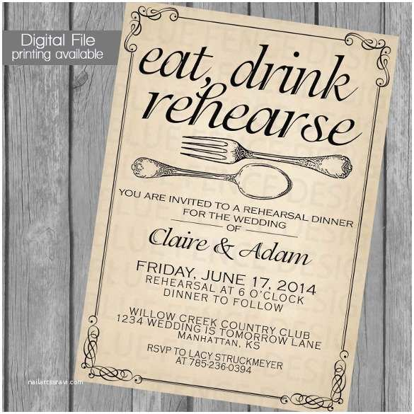 Wedding Rehearsal Invitations 40 Dinner Invitation Templates Free Sample Example
