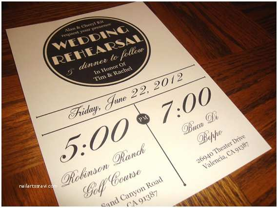 Wedding Rehearsal Invitations Custom Printable Vintage Wedding Rehearsal Dinner