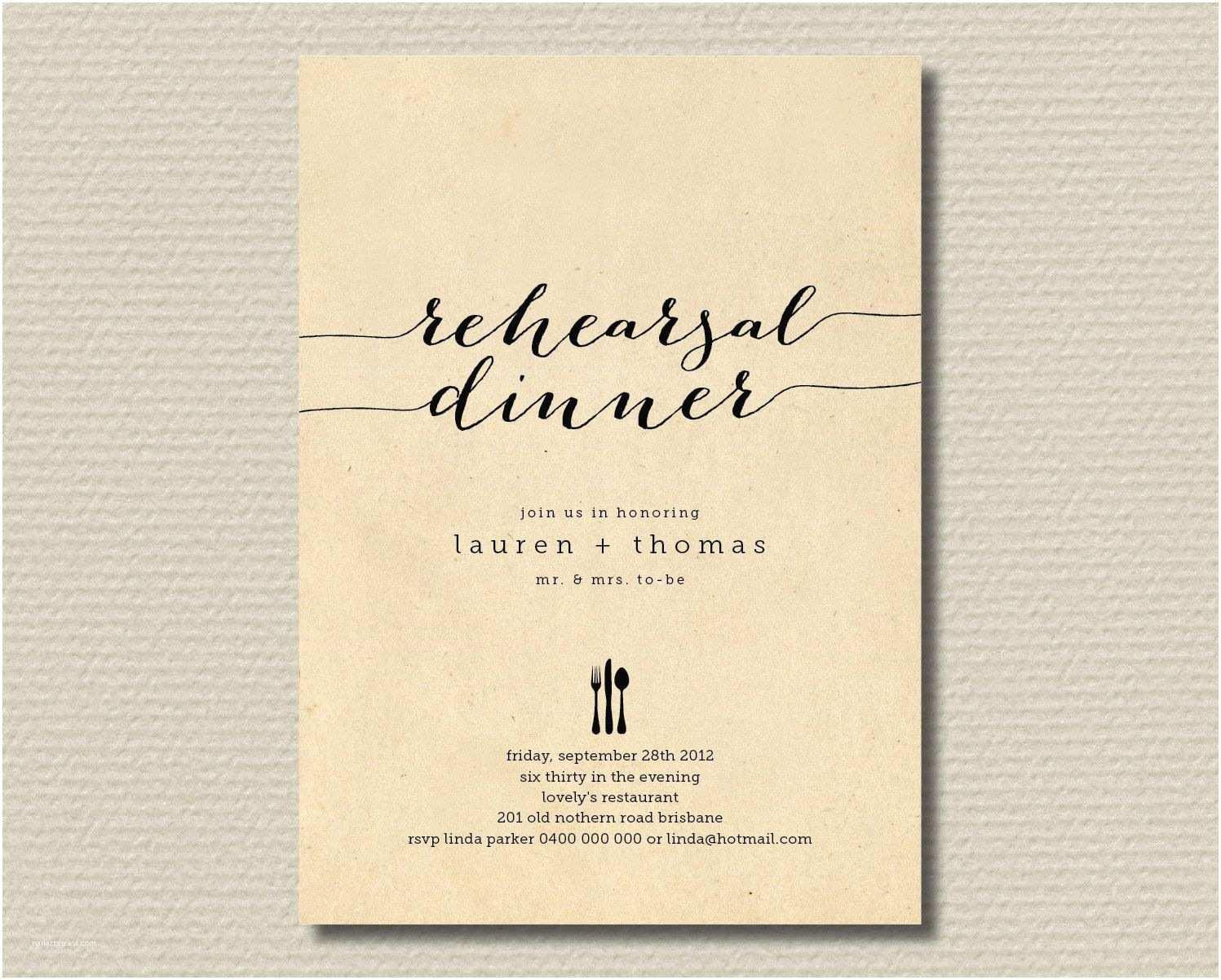 Wedding Rehearsal Invitations Printable Wedding Rehearsal Dinner Invitation Rustic