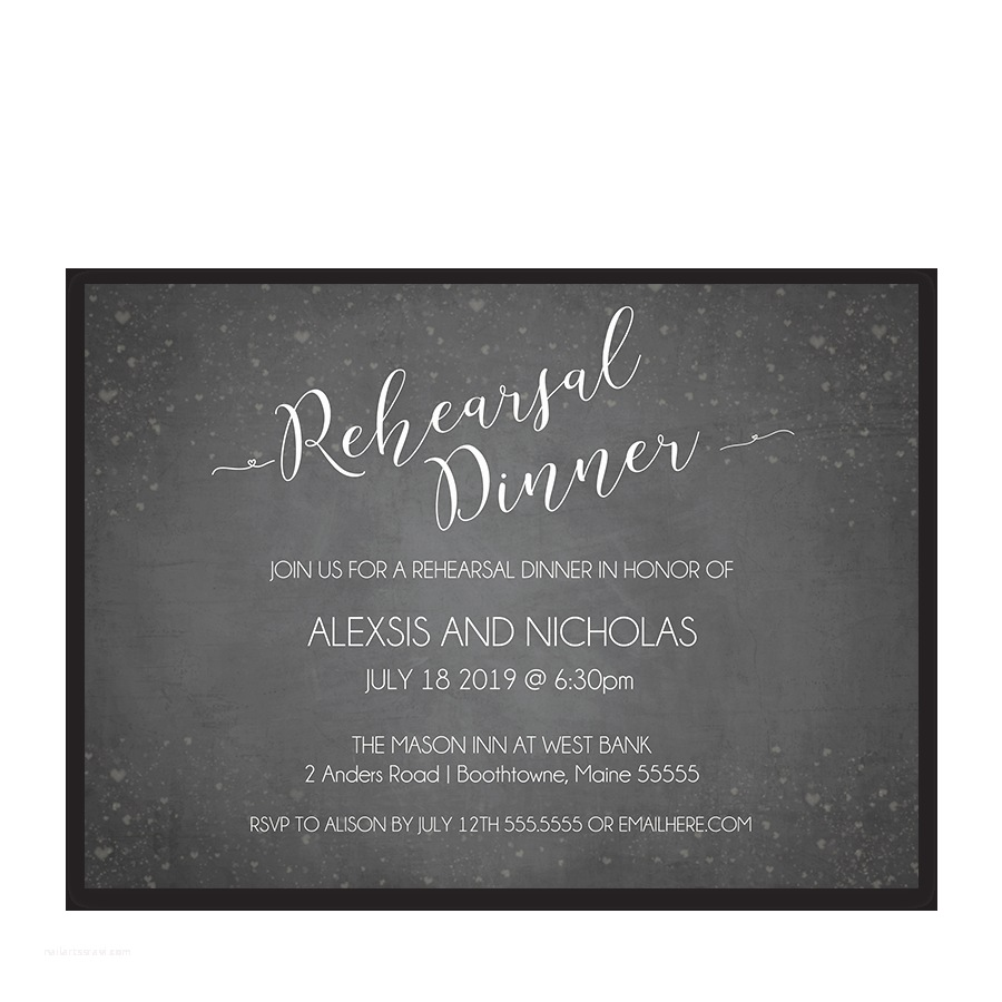 Wedding Rehearsal Invitations Rustic Chalkboard Wedding Rehearsal Invitations