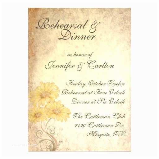 Wedding Rehearsal Invitations Sunflowers Wedding Rehearsal Dinner Invitation