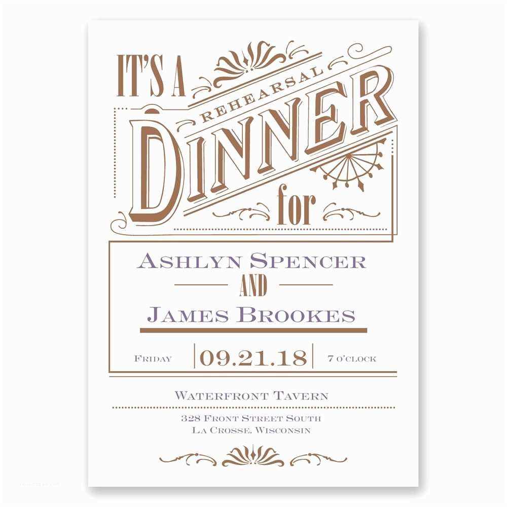 Wedding Rehearsal Invitations Vintage Charm Rehearsal Dinner Invitation