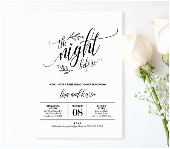 Wedding Rehearsal Invitations Wedding Rehearsal Dinner Printable Diy Rehearsal Invitation
