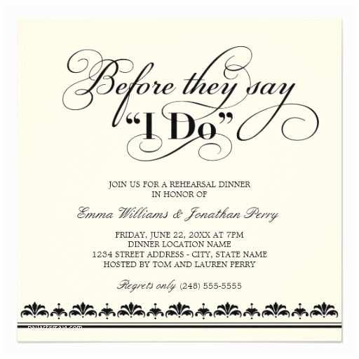 Wedding Rehearsal Invitations White Wedding Invitations Wedding Rehearsal Dinner
