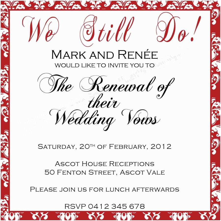 """Wedding Renewal Invitations Mother Duck Said """"lets Party """" Vow Renewal Invitation"""