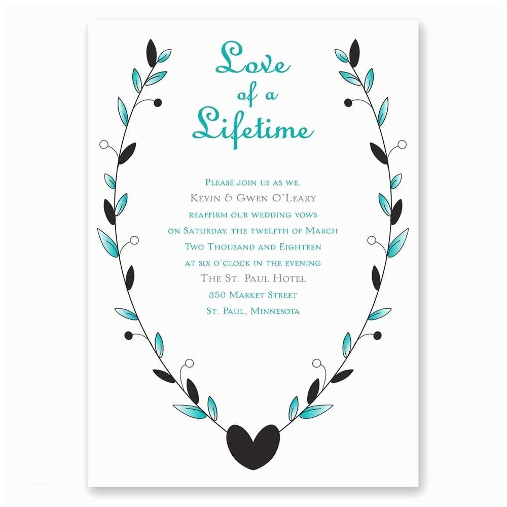 Wedding Renewal Invitations Sample Invitation Renewal Wedding Vows Invitation