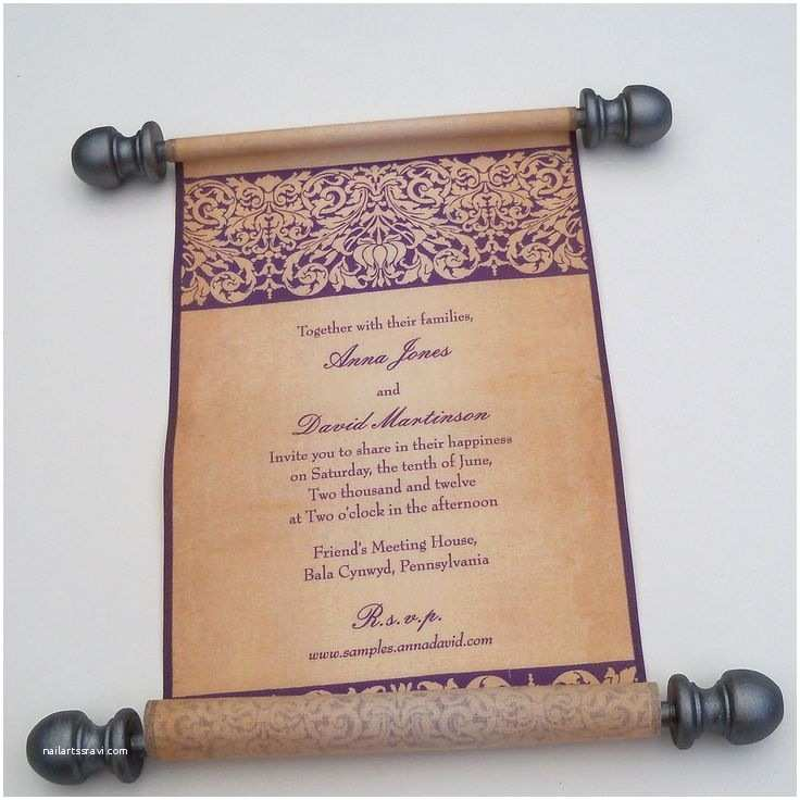 Wedding Scroll Invitations Unique Scroll Cards Is Scroll Wedding