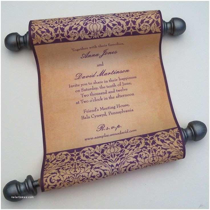Wedding Scroll Invitations Best 25 Scroll Wedding Invitations Ideas On Pinterest