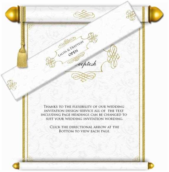 Wedding Scroll Invitations Indian Scroll Wedding Invitations Usa Yaseen for