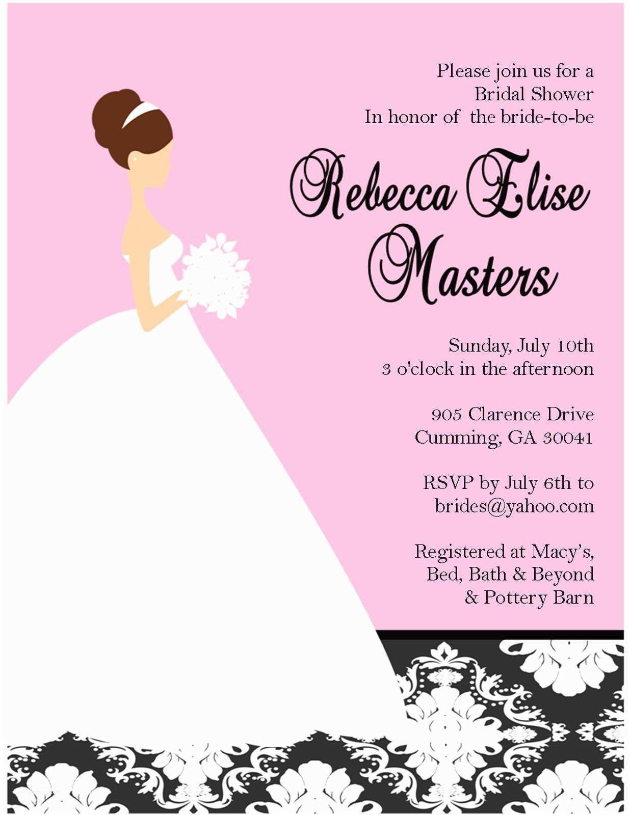 Wedding Shower Invitation Wording Bridal Shower Invitations Custom Bridal Shower