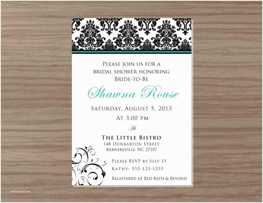 Wedding Shower Invitation Wording Gift Card Bridal Shower
