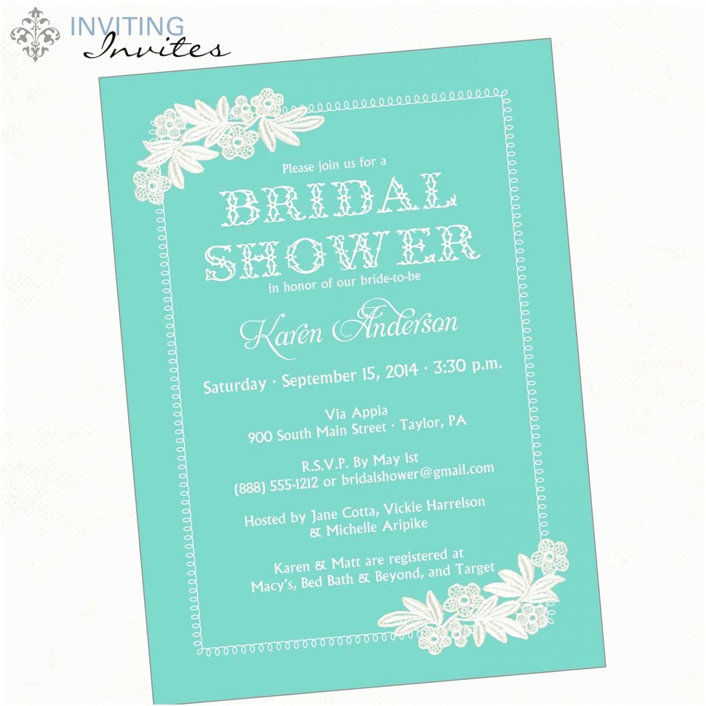 Wedding Shower Invitation Wording Wedding Shower Invitation Sample