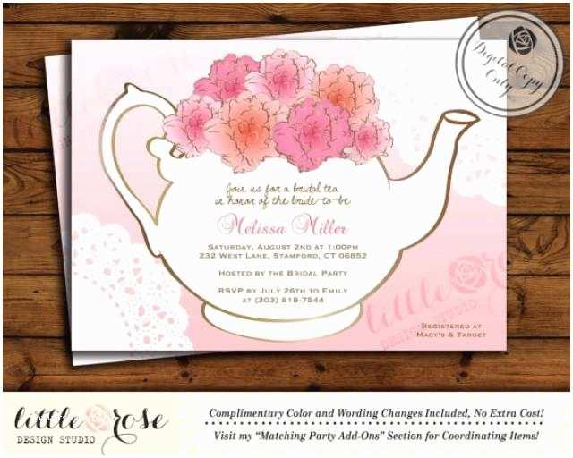 Wedding Tea Invitations Bridal Tea Party Invitation Bridal Shower Invite Baby