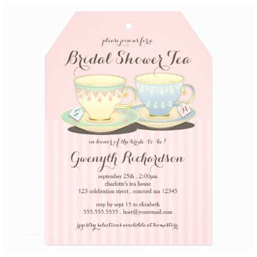Wedding Tea Invitations Invitation Wording for Bridal Shower Tea Party Matik for