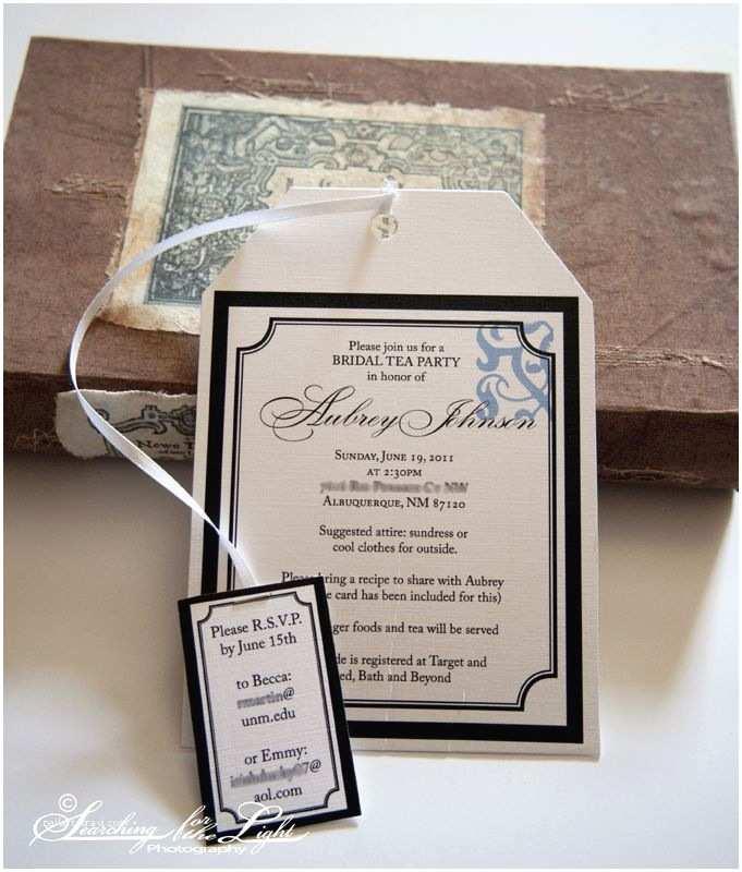 Wedding Tea Invitations Tea Bag Invitation Imagine [tea Party]