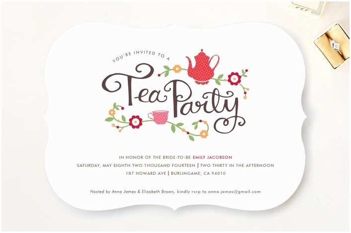 Wedding Tea Invitations Wedding Invitation Templates and Wording