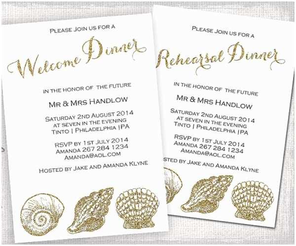 Wedding Welcome Party Invitation 10 Wedding Dinner Invitations Free Sample