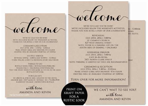 Wedding Welcome Party Invitation Examples Of Invitations