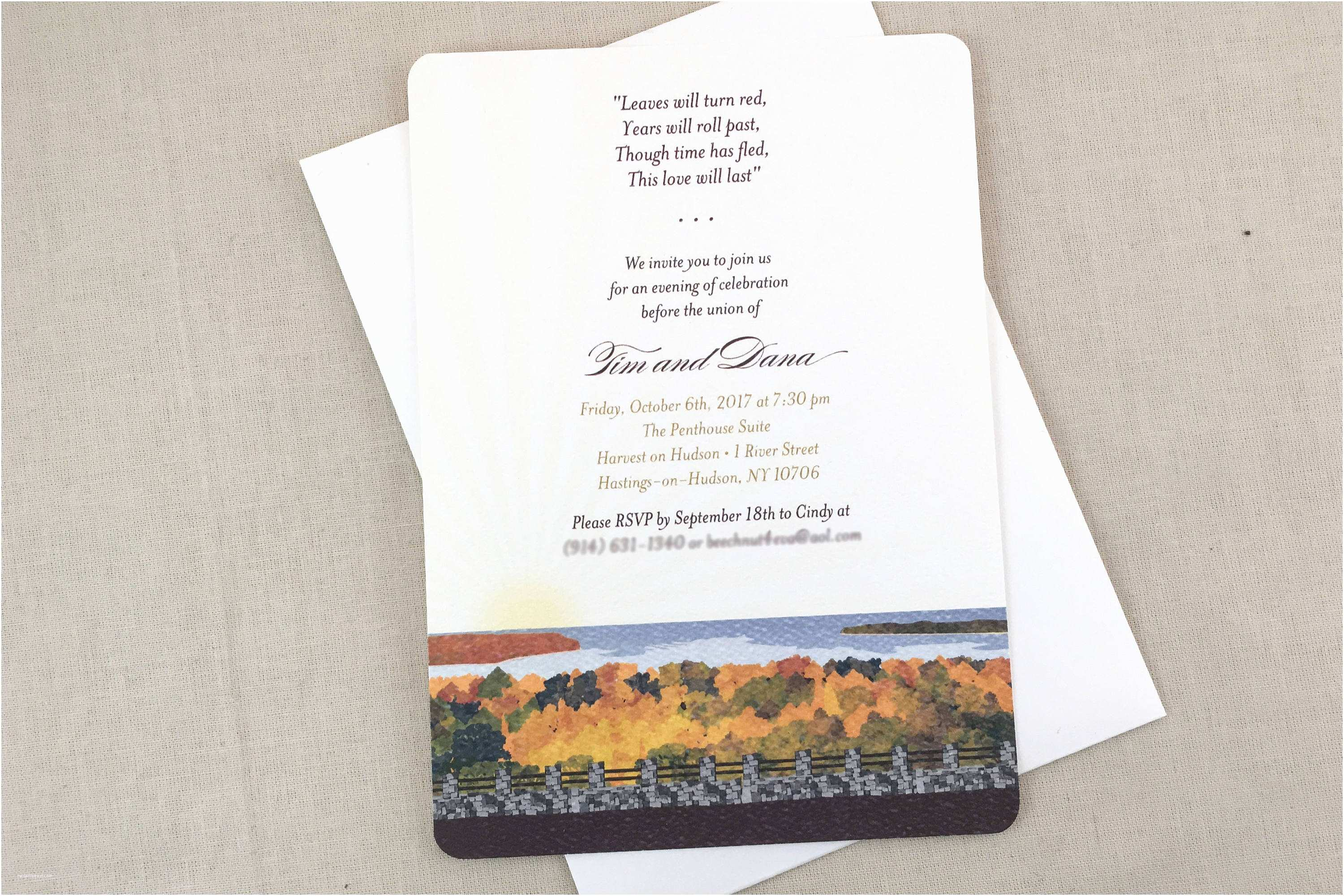Wedding Welcome Party  Fall Egg Harbor Village 5×7 Wel E Party