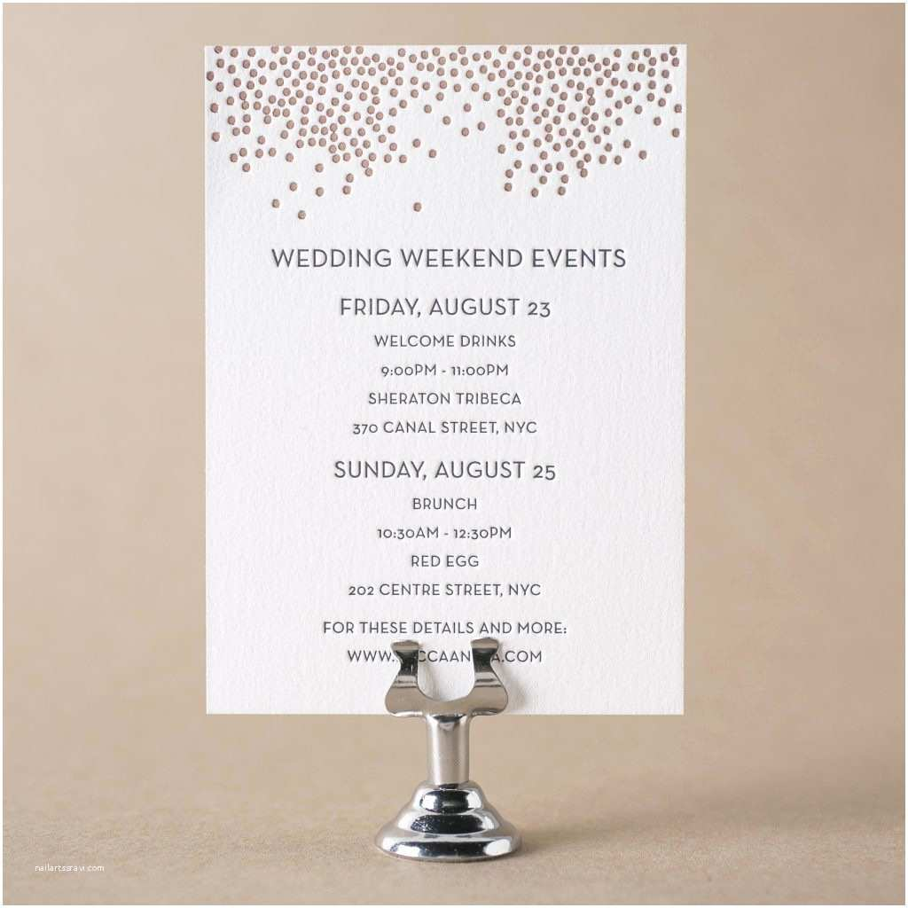 Wedding Welcome Party Invitation Letterpress Wedding Events Cards For Wedding