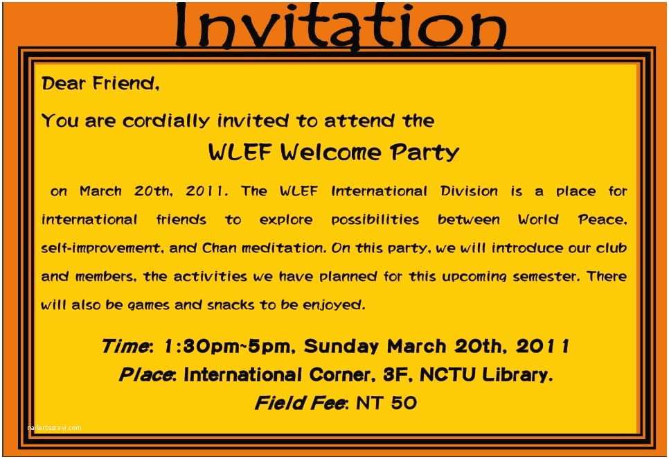 party invitation card image