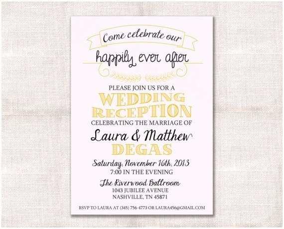 Wedding Welcome Party Invitation Wedding Reception Celebration After Party Invitation