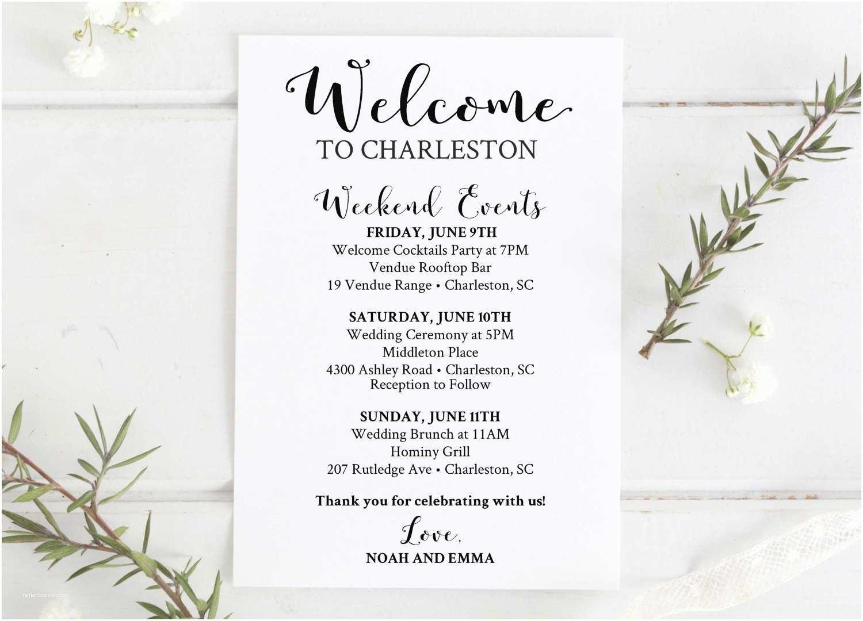 Wedding Welcome Party Invitation Wedding Wel E Bag Printable Editable Wedding