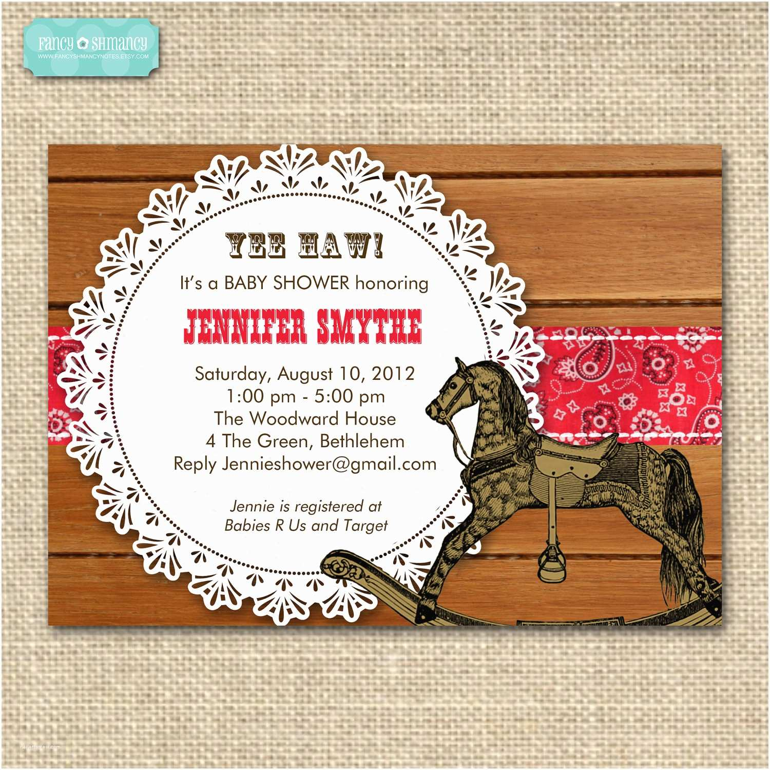 Western Baby Shower Invitations Chandeliers & Pendant Lights
