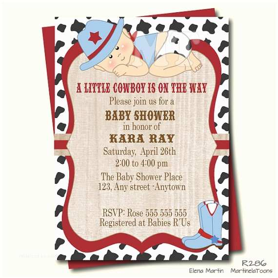 Western Baby Shower Invitations Cowboy Baby Shower Invitation Western Baby Shower Invite