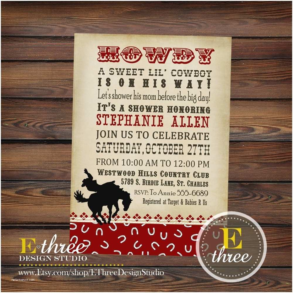 Western Baby Shower Invitations Western Baby Shower Invitations Template Resume Builder