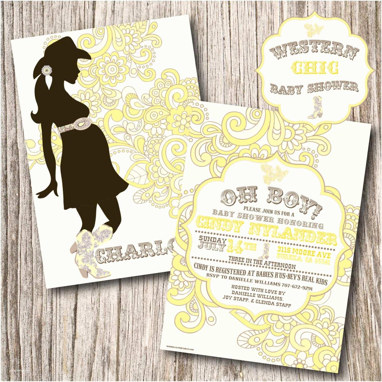 Western Baby Shower Invitations Western Baby Shower Invitations Western by