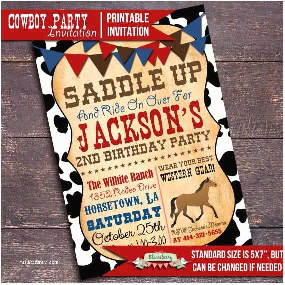 Western Birthday Invitations 25 Best Ideas About Cowboy Party Invitations On Pinterest