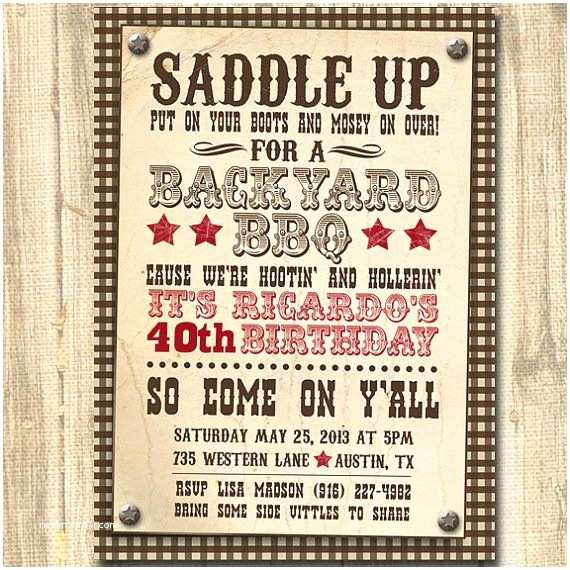 Western Birthday Invitations 25 Best Ideas About Western Invitations On Pinterest